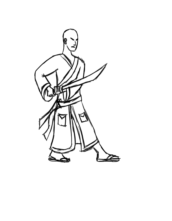 #2 Bathrobe Samurai