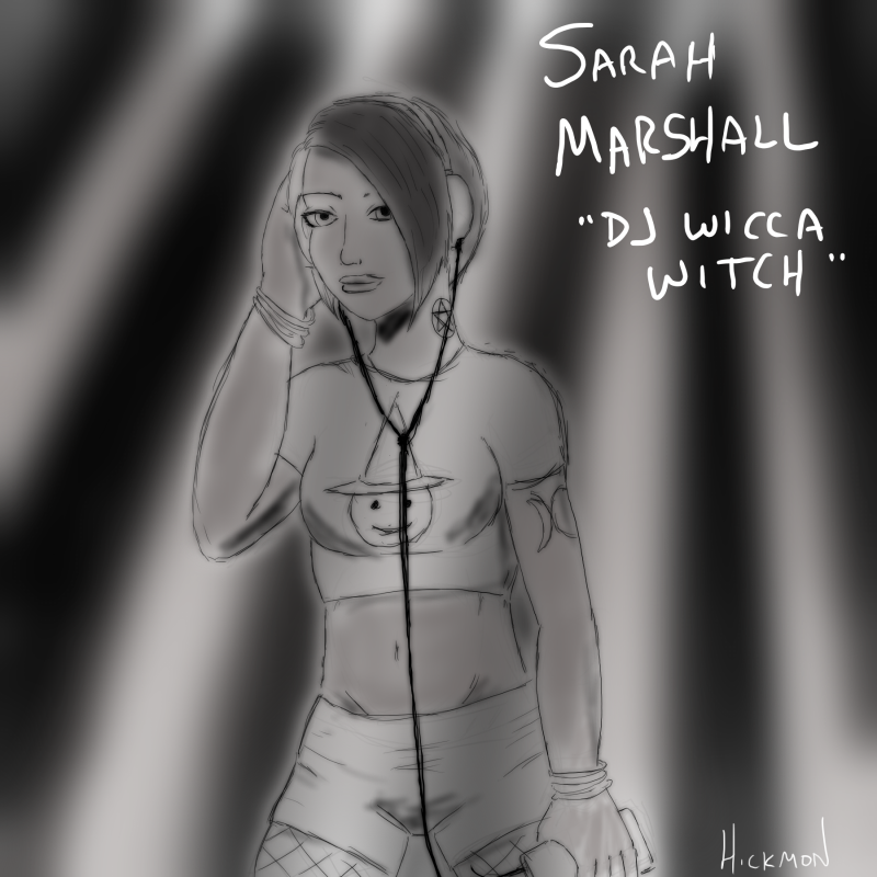 """4 April 2015 - Sarah Marshall aka """"DJ Wicca Witch"""""""